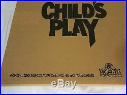 NEW Original Child's Play Movie Standee 1989 Lobby Theater Display Chucky SEALED