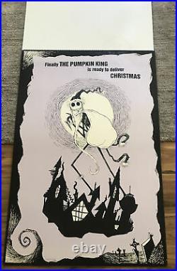 Nightmare Before Christmas Large Flip Pad Promo Theatre Display 38x25 Rare