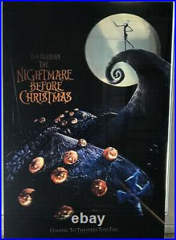 Nightmare Before Christmas Lenticular 27x41 Touchstone 1993 Theater Display Rare