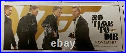 No Time To Die 15Ft X 6Ft Movie Theater Vinyl Banner James Bond Delayed Release