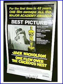 ONE FLEW OVER THE CUCKOO'S NEST Original Rare Size 40X60 Theatre Poster