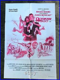Octopussy Cinema Movie Theater Poster 27 x 41 1983 Original James Bond 007