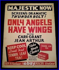 Only Angels Have Wings 1939 Majestic Theater Store Sign Cary Grant Jean Arthur