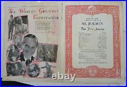 Original 1927 Jazz Singer souvenir theater program, Al Jolson, complete RARE