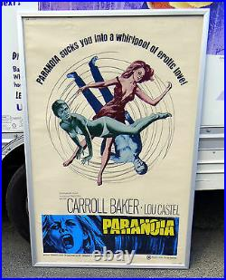 Original 1969 Orgasmo(PARANOIA) 40x60 Theatre Movie Poster