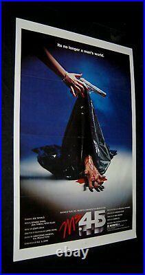 Original 1981 Ms 45 ANGEL OF VENGEANCE Movie Theatre Poster HAND STYLE Zoë Lund