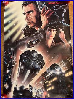 Original 1982 Blade Runner Theater Poster 39 x 27 Scandecor