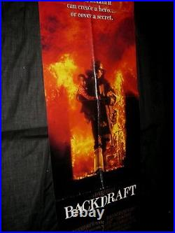 Original BACKDRAFT Rare 20 x 58 Advance International Theatre Door Panel