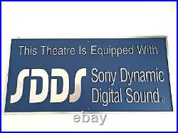Original Cinema Sony Dynamic Digital Sound SDDS Sign Vintage 90s Movie Theatre