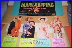 Original Mary Poppins movie standee set Movie theater kit rare TECHNICOLOR 1964