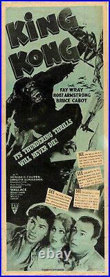 Original Theater Insert Poster Classic KING KONG R52 HORROR WILLIS O'BRIEN