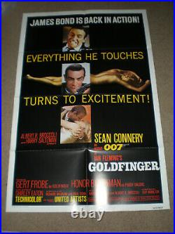 Original Theater Posters DR. NO & GOLDFINGER R80 SEAN CONNERY JAMES BOND