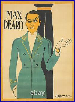Original Vintage Poster Gesmar Max Dearly Film Theatre Deco French