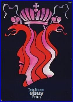 Original Vintage Poster Polish Film Fantasy Fantasy Crown Royalty 1970