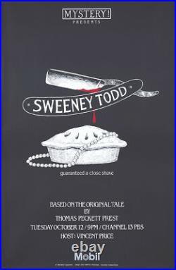 Original Vintage Poster Sweeney Todd Edward Gorey Masterpiece Theater 1982