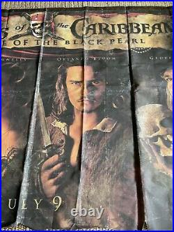 Pirates Of The Caribbean, Poster, Black Pearl, Huge Orig. Movie Theater Banner 2003