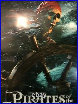 Pirates Of The Caribbean Skeleton Original Theater Promo Poster 2003 One Sheet