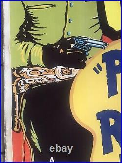 Power River Rustler Theatre Lobby Western Movie Poster Original 1949 40 X 60