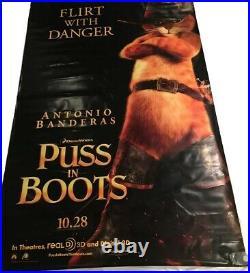 Puss In Boots Huge Vinyl Movie Theatre Banner Poster 8 X 5