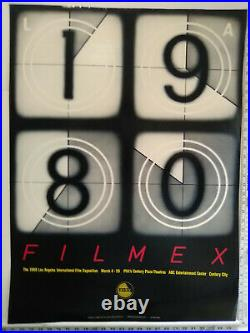 RARE! 1980 Filmex poster LA International Film Exposition NEVER FRAMED