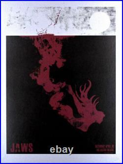 RARE AMAZING Jaws Silkscreen Movie Poster David O'Daniel Castro Theatre