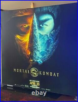 RARE MORTAL KOMBAT 2021 Movie Theater Banner Poster Vinyl Cloth 8ft by 8ft