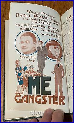 Rare 1928-1929 Fox Film Corp. Theater Exhibitors Date Book Advance Movie Ads Wow