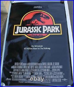 Rare 1992 Original Jurassic Park Movie Theater Promo Poster 40x27 Dinosaur OG