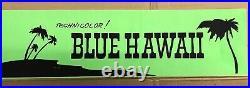 Rare Elvis Blue Hawaii Neon Movie Theater Marquee Banner / Paramount / Memphis