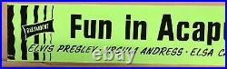 Rare Elvis Fun In Acapulco Neon Movie Theater Marquee Banner / Paramount 1963