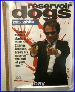 Reservoir Dogs Original Movie Theater Promo Poster Mr. White Harvey Keitel