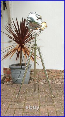 Restored Strand 23 Electric Theatre Bbc Stage Film Floor Light Lamp Tripod Stand