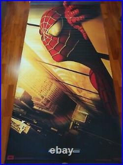 SPIDERMAN 1 95 x 48 Giant Movie Theater Vinyl Banner 9/11 recalled 2002