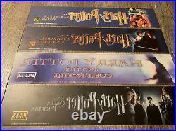 SUPER RARE! Harry Potter Set (1-2-4-5) Movie Theater Mylars 2.5x11.5