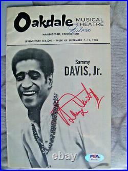 Sammy Davis Jr signed playbill auto autograph PSA/DNA Oakdale Theatre Program CT