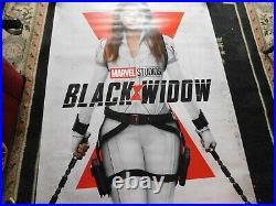 Scarlett Johansson Black Widow Original Theater Huge Promo Poster 48 X 72