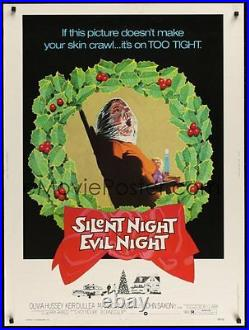 Silent Night Evil Night Original, Rolled Movie Theater Poster 30 x 40
