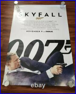 Skyfall Bus Shelter 4 x 6 Official Movie Theater James Bond No Time to Die