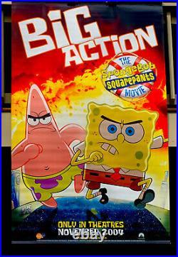 Spongebob Squarepants Movie Theater Vinyl Poster 2004 Huge! 76 X 48 Rare Find
