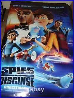 Star Wars Rise of Skywalker / Spies in Disguise 5'x8' Vinyl Movie Theater Banner
