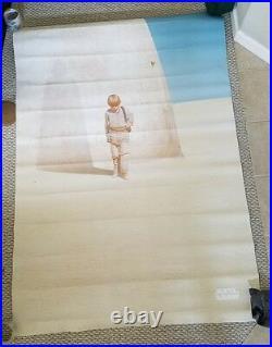 Star Wars The Phantom Menace 47 x 68 Double Sided Vinyl Theatre Teaser Poster