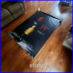 Stephen King's IT Banner 2017 Vinyl Movie Banner 4'x6' Theater Official USA BIG