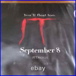 Stephen King's IT Banner 2017 Vinyl Movie Banner 5'x12' Theater Official USA BIG