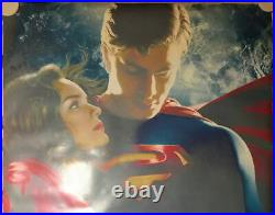 Superman Returns 2 Sided THEATER BANNER HAND SIGNED by Brandon Routh w COA