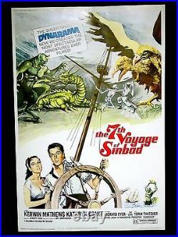 THE 7TH VOYAGE OF SINBAD Original Rare Size 40X60 Theatre Poster