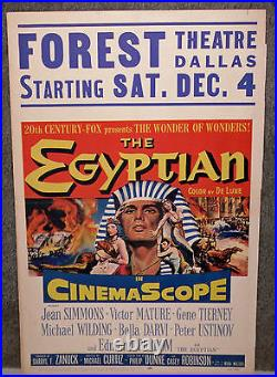 THE EGYPTIAN original 1954 movie poster FOREST THEATRE DALLAS TEXAS/JEAN SIMMONS