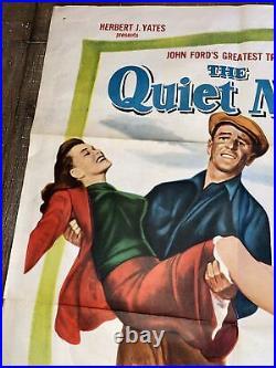 THE QUIET MAN Original 1957 Movie Theatre Poster 41x27 John Wayne & John Ford