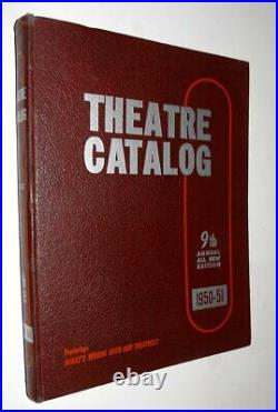 THEATRE CATALOG 9th Volume 1950-51 DRIVE-INs Movie Theatres The Carver SUPPLIES