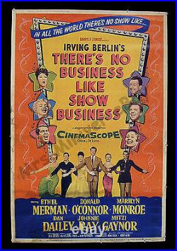 THERE'S NO BUSINESS LIKE SHOW BUSINESS 1954 Marilyn Monroe Movie Theater POSTER