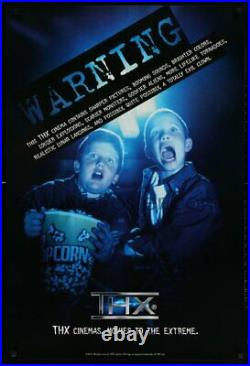 THX DS 27x40 Special Poster 2003 Lucas Warning Home Theater RARE